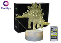 ABS 3D LED Night Light, lampa stołowa 3D Illusion Dinosaur Toys AA Battery